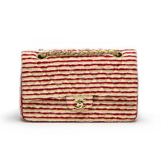 Chanel Striped Classic Flap Vintage Shoulder Bag