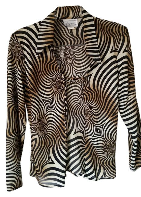 Preload https://item1.tradesy.com/images/tiger-beige-brown-blouse-size-6-s-14907295-0-1.jpg?width=400&height=650