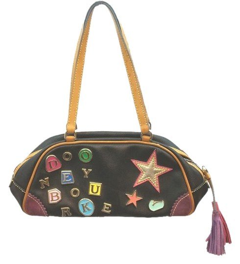 Preload https://img-static.tradesy.com/item/14907304/dooney-and-bourke-and-metal-letters-brown-leather-canvas-satchel-0-2-540-540.jpg