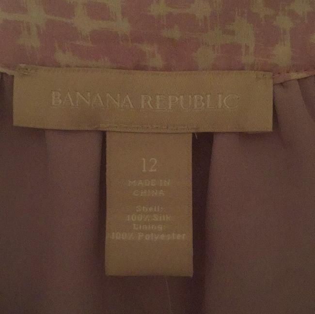 Banana Republic Top Purple, white