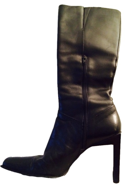 Nine West Black Leather Boots/Booties Size US 7.5 Regular (M, B) Nine West Black Leather Boots/Booties Size US 7.5 Regular (M, B) Image 1