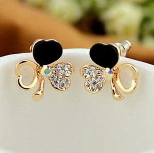 High Quality Clover Earrings Jewelry Gold Plated