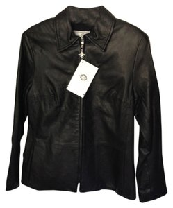 St. John Sport Collection Leather Jacket