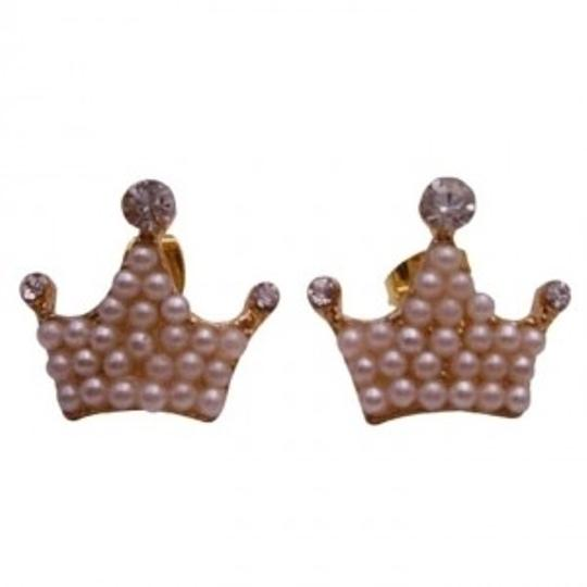 Preload https://item3.tradesy.com/images/gold-ivory-crown-shaped-pearls-earrings-149077-0-0.jpg?width=440&height=440