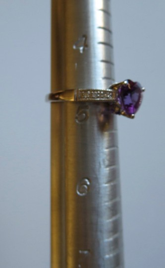 Other Amethysts with diamond accent gold ring