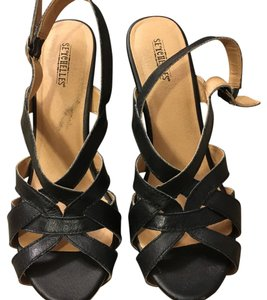 Seychelles Black Wedges