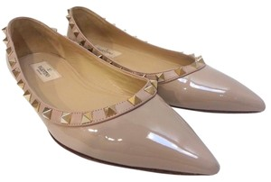 Valentino Ballet Pointed Toe Nude Flats
