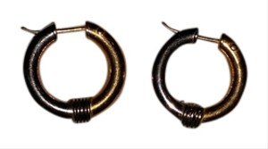 Unknown 2 Tone Gold & Silver Small Hoops