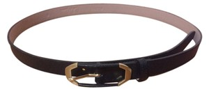 Cole Haan Black belt with gold buckle