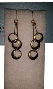 Claire's Gold Plated Circle Dangle Earlings