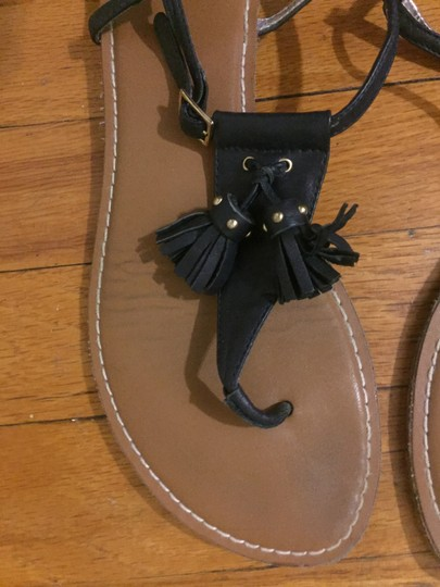 Gap T-strap Tassels Navy Sandals