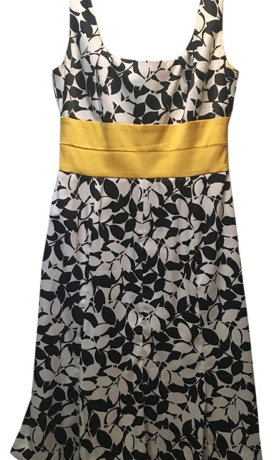 Preload https://item1.tradesy.com/images/donna-ricco-black-white-and-yellow-desss-knee-length-cocktail-dress-size-6-s-14909875-0-1.jpg?width=400&height=650