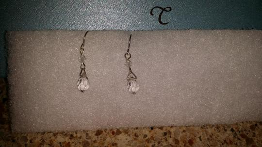 Claire's Sliver Crystal-Like Dangling Ball Earings