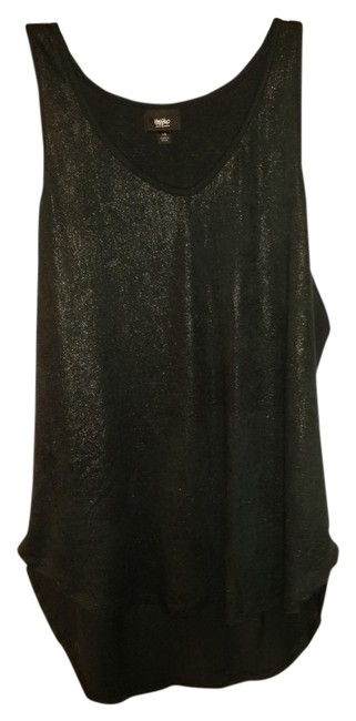 Mossimo Top Metallic Sparkle Black