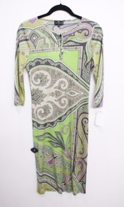 Etro short dress Multi-Color Green Print Paisley on Tradesy