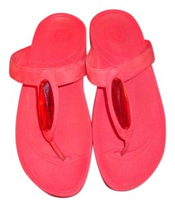 FitFlop Wedge Red Brick Red Sandals