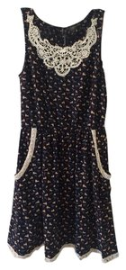 Doe & Rae short dress Navy Pockets Bunnies Modcloth on Tradesy