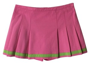 Lilly Pulitzer Mini Skirt Hibiscus Pink and Green