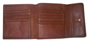 Bosca Bosca Rust Brown Leather Trifold Wallet