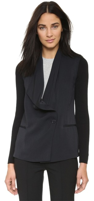 Preload https://img-static.tradesy.com/item/14910580/vince-black-asymmetrical-rib-sleeve-draped-drape-jacket-retail-us-blazer-size-6-s-0-1-650-650.jpg