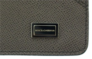 Dolce&Gabbana DOLCE & GABBANA Gray Leather iPAD Tablet Cover Bag Shell Folio