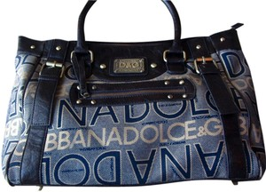 Dolce&Gabbana Tote Leather Satchel in brown & gold