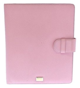 Dolce&Gabbana DOLCE & GABBANA Pink Leather iPAD Tablet Cover Folio