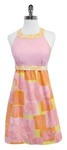 Lilly Pulitzer short dress Pink Orange Print Cotton on Tradesy