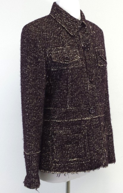 Lafayette 148 New York Plum Tweed Alpaca Jacket