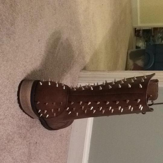 Torrid Brown And Gold Tone Boots