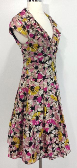 Kay Unger short dress Multi Color Floral Cotton Silk on Tradesy