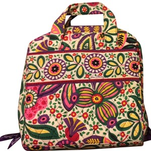 Vera Bradley Purple And Multi Colored Travel Bag