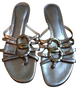 Botkier Studded Metallic Gold Sandals
