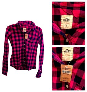 Hollister Button Down Shirt Plaid