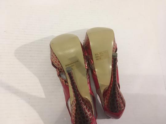 Mascotte Stiletto Heels Many Shades Red mostly numerous cutouts peep toe Platforms