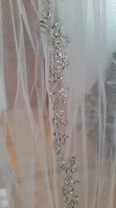 White Medium Length Bridal Veil