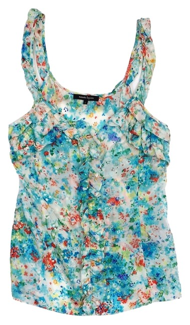 Preload https://item5.tradesy.com/images/nanette-lepore-multi-color-silk-ruffly-tank-topcami-size-0-xs-14913709-0-1.jpg?width=400&height=650