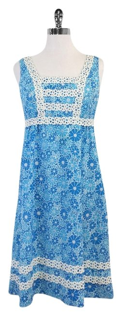 Preload https://item5.tradesy.com/images/lilly-pulitzer-blue-and-white-floral-sleeveless-above-knee-short-casual-dress-size-6-s-14913724-0-1.jpg?width=400&height=650