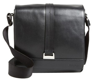 Salvatore Ferragamo Messanger Shoulder Gancio Men Black Messenger Bag