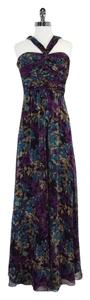 Maxi Dress by Laundry by Shelli Segal Multi Color Print Silk Maxi