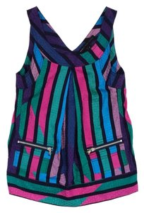 Marc by Marc Jacobs Multi Color Striped Top