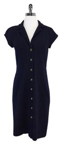 St. John short dress Navy Knit Short Sleeve on Tradesy