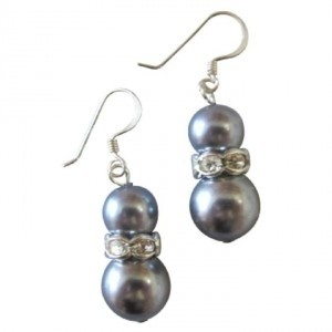 Grey Valentine Gift Pearls Custom Your Earrings