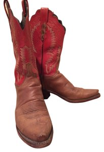 Lucchese Brown with red upper Boots