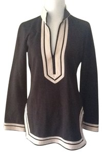 Tory Burch Cotton Chic Black Beige Tunic