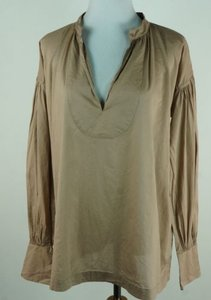 J.Crew Poets Shirt Light Mushroom Tan Sample Top Brown