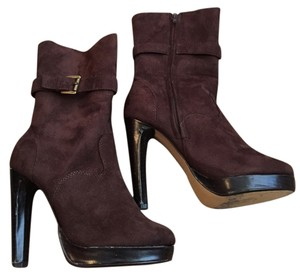 Newport News Brown Suede Buckle Boots