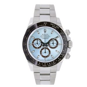 Rolex Rolex Cosmograph Daytona Platinum Watch Ice Blue Dial 116506
