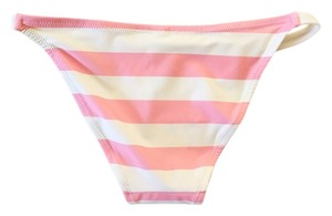 Solid & Striped Solid & Striped   Pink & White Bikini Bottom Only (S)