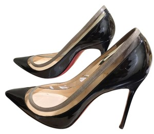 Christian Louboutin Black, clear and grey Pumps